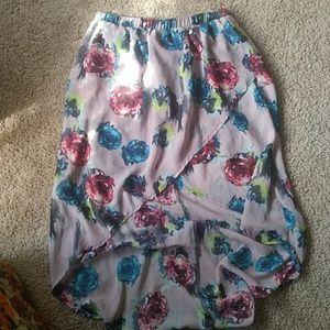 Charlotte Russe floral Hi-Lo skirt